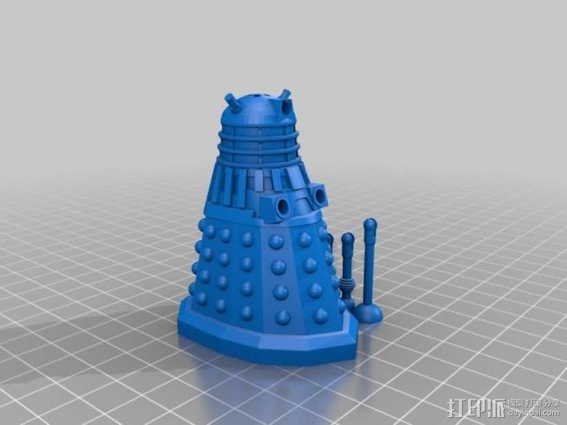 戴立克机器人盐瓶/胡椒瓶 3D模型  图2