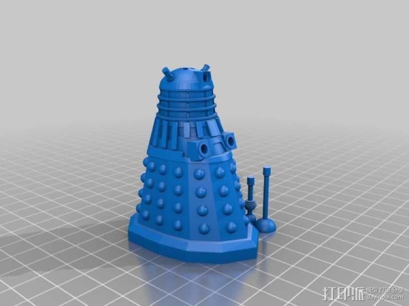 戴立克机器人盐瓶/胡椒瓶 3D模型  图4