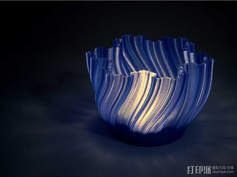 Koch茶蜡架子 3D模型  图1