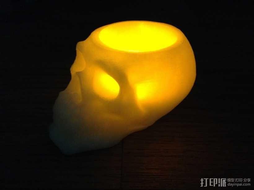 骷髅头形茶蜡支架 3D模型  图1