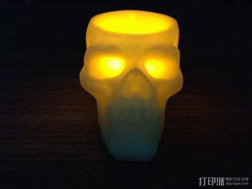 骷髅头形茶蜡支架 3D模型  图2