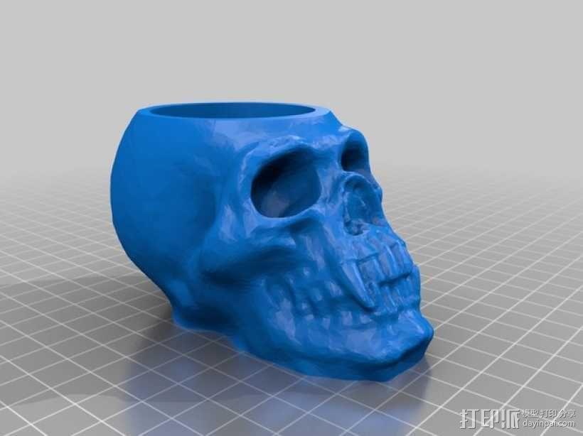 骷髅头形茶蜡支架 3D模型  图3