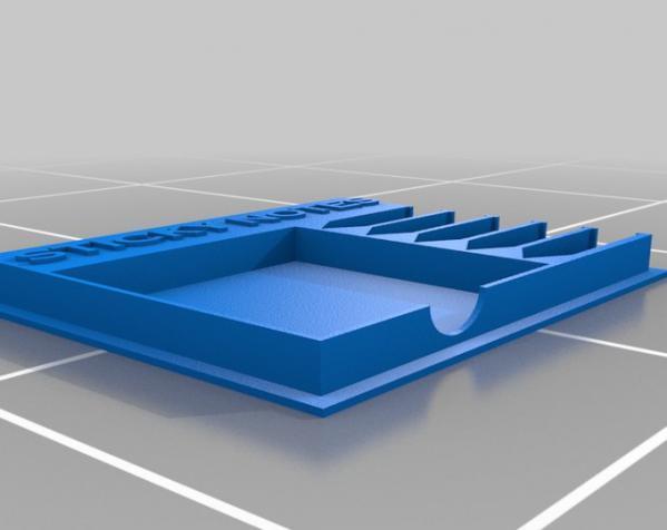 终极版便利贴盒 3D模型  图2