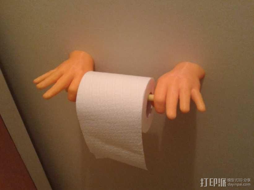 """""""OK手势""""厕纸架 3D模型  图1"""