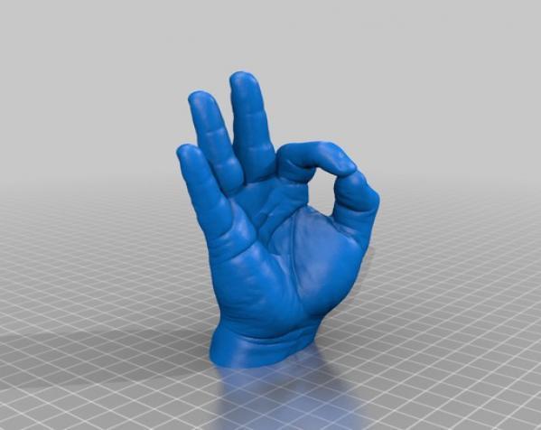 """""""OK手势""""厕纸架 3D模型  图5"""