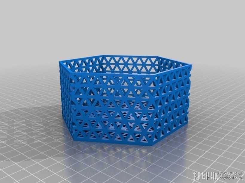 六边形镂空容器 3D模型  图2