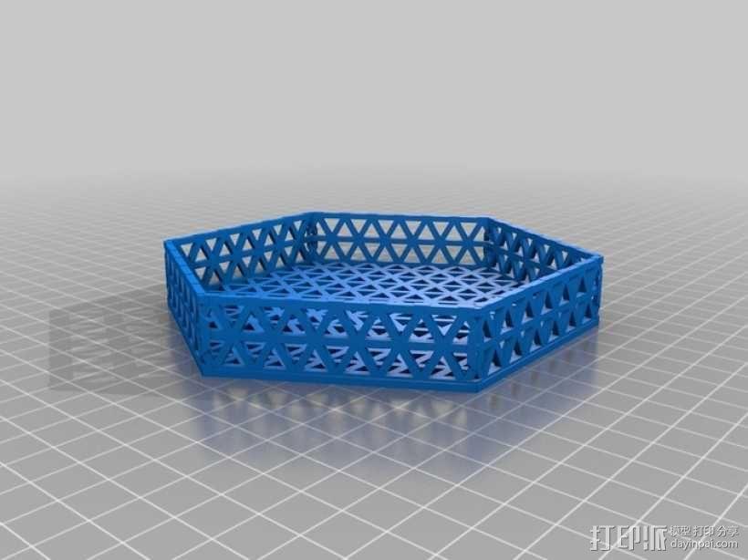 六边形镂空容器 3D模型  图4