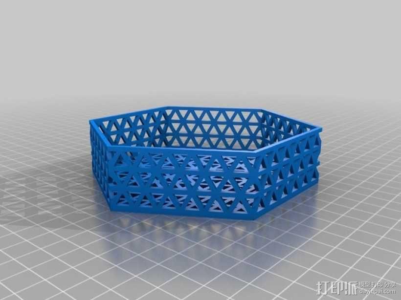 六边形镂空容器 3D模型  图5