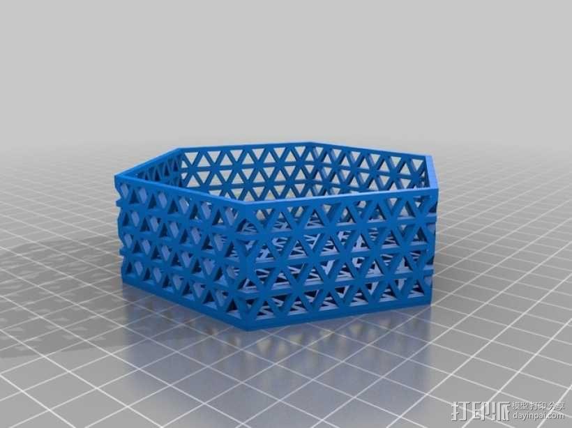 六边形镂空容器 3D模型  图6