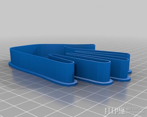 创造性的饼干模具切割刀 3D模型  图1