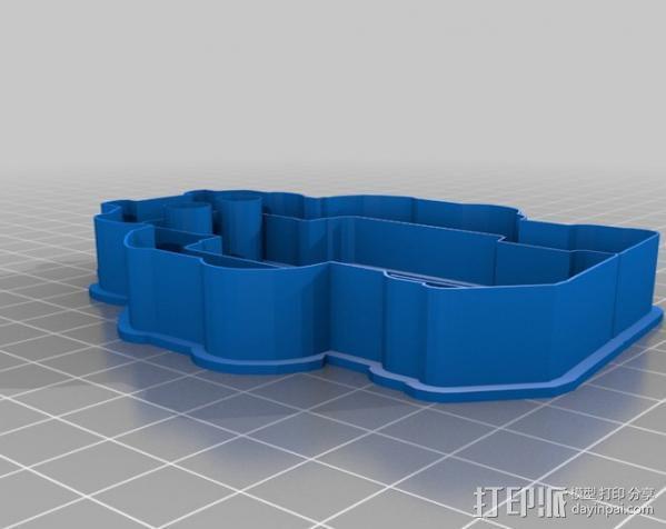 创造性的饼干模具切割刀 3D模型  图3