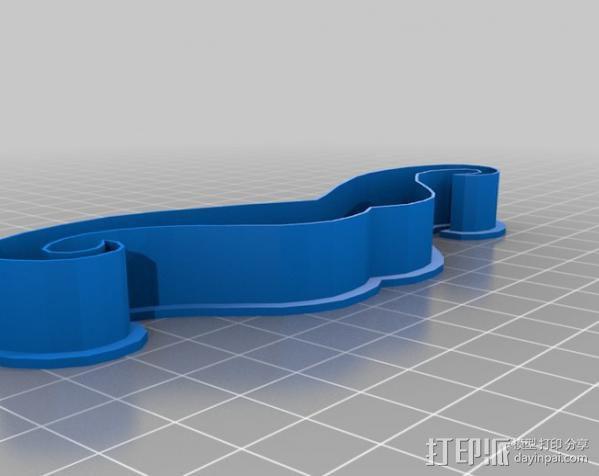 创造性的饼干模具切割刀 3D模型  图6