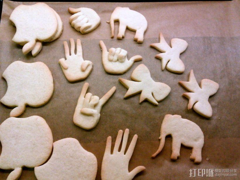 创造性的饼干模具切割刀 3D模型  图13