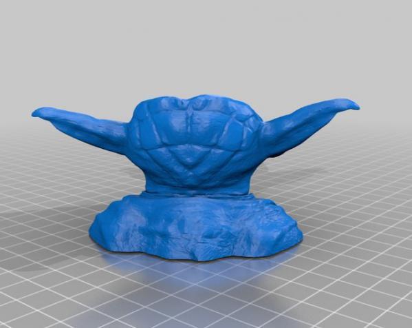 尤达大师花瓶 3D模型  图2