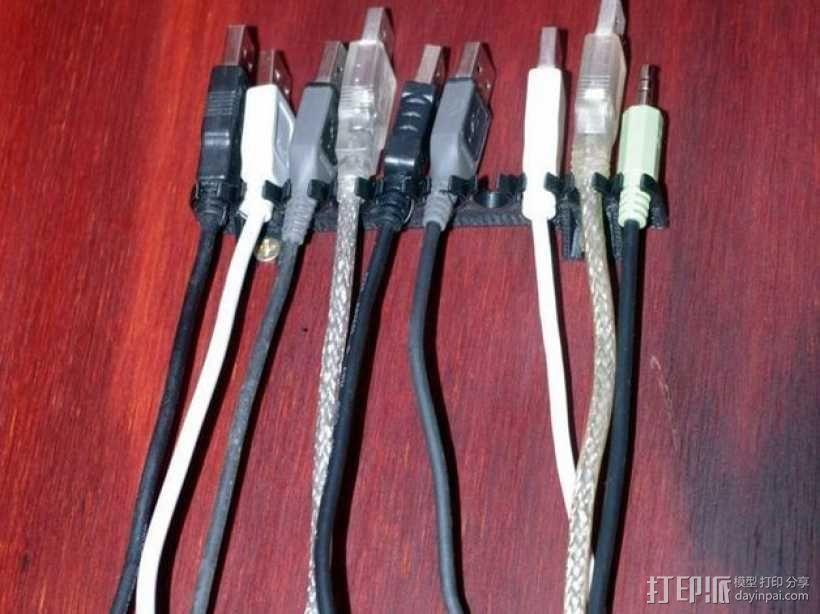 参数化USB线挂钩 3D模型  图1