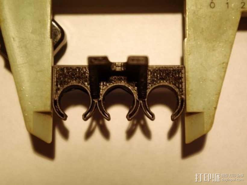 参数化USB线挂钩 3D模型  图3