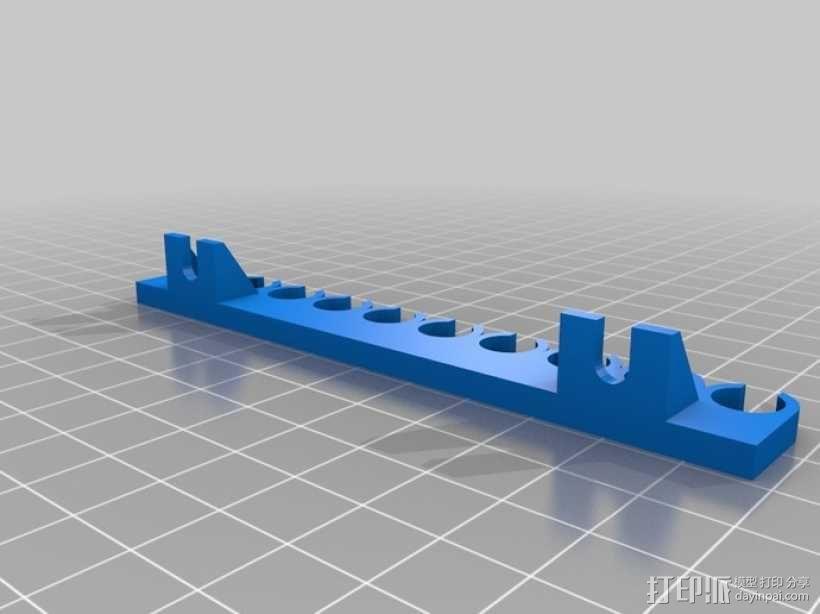 参数化USB线挂钩 3D模型  图2