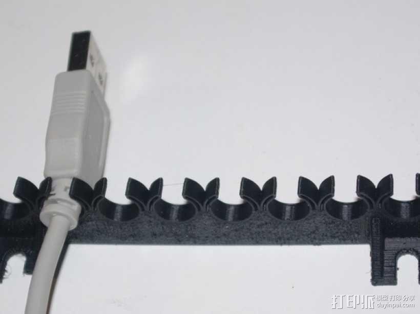 参数化USB线挂钩 3D模型  图5