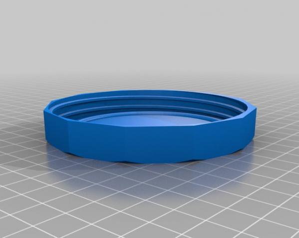 罐头瓶盖子 3D模型  图1