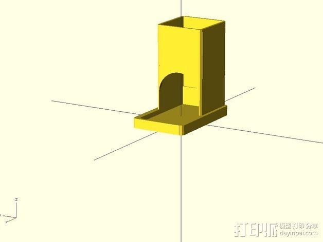 参数化雀巢胶囊咖啡分发器 3D模型  图3