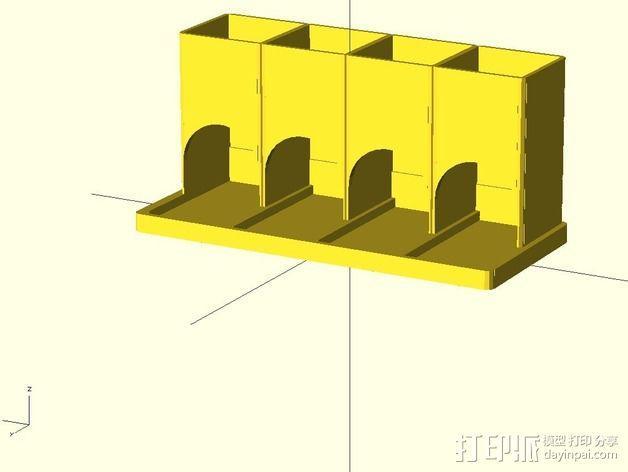 参数化雀巢胶囊咖啡分发器 3D模型  图2