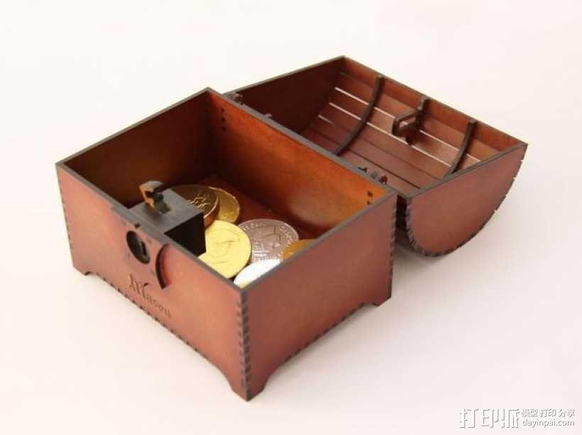 带锁的藏宝箱 3D模型  图4