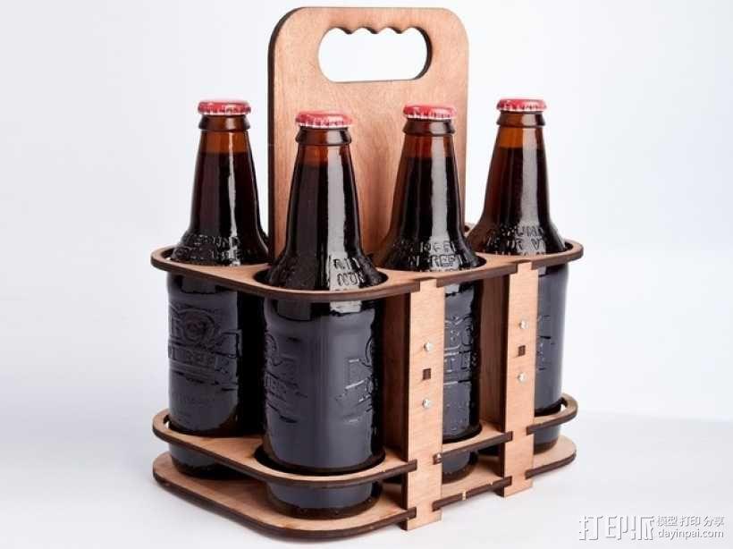 玻璃瓶装饮料打包机 3D模型  图1