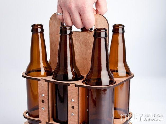 玻璃瓶装饮料打包机 3D模型  图4