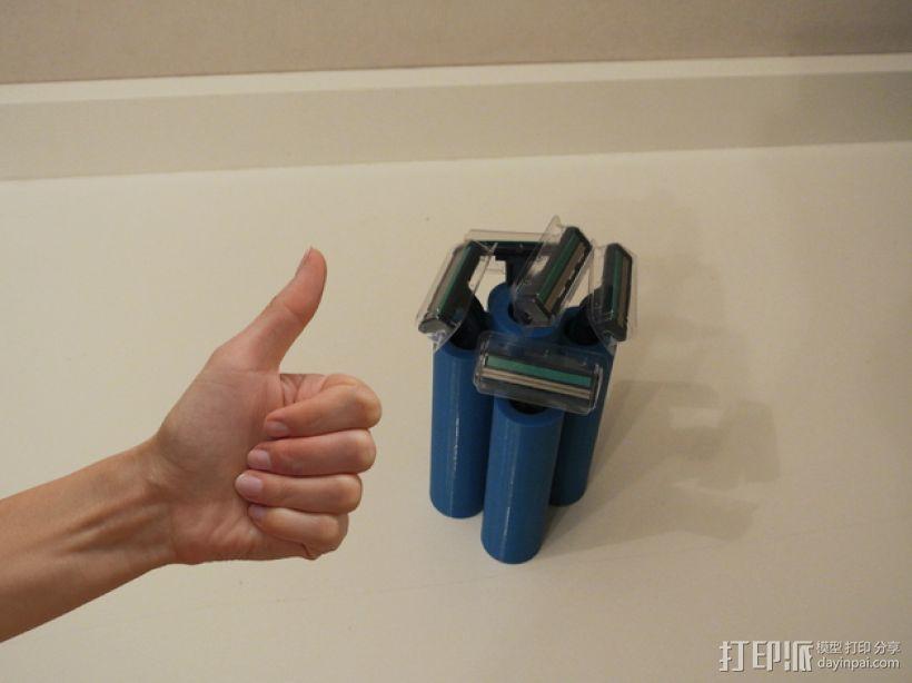 吉列蓝色II剃须刀架 3D模型  图4
