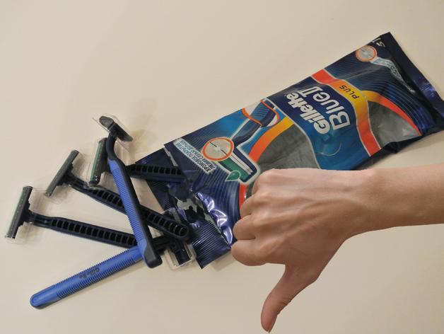 吉列蓝色II剃须刀架 3D模型  图3