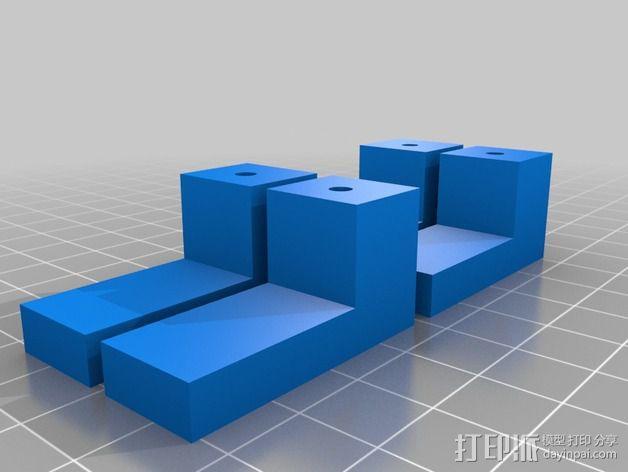 家用简易镜子架 3D模型  图2