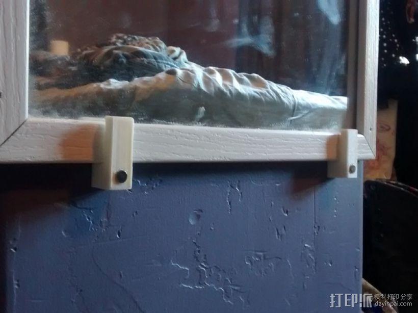 家用简易镜子架 3D模型  图1
