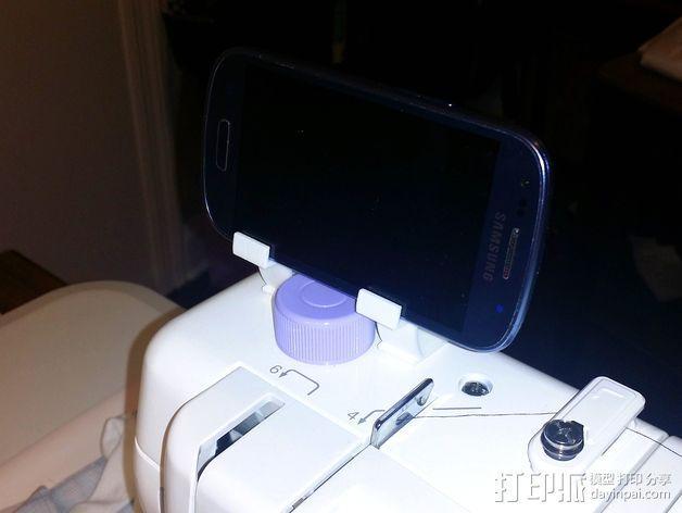 缝纫机手机架 3D模型  图2