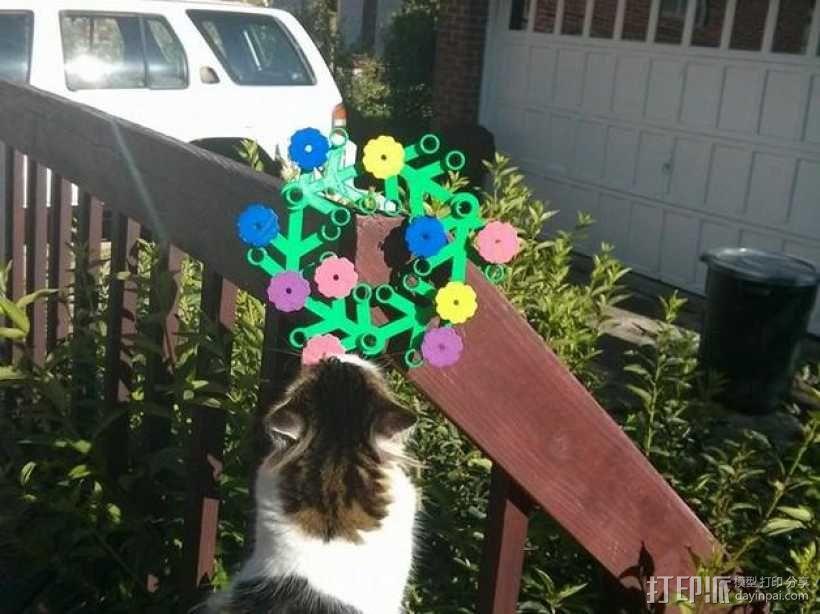 乐高巨型花环花朵 3D模型  图1