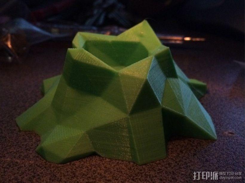低多边形火山 3D模型  图1