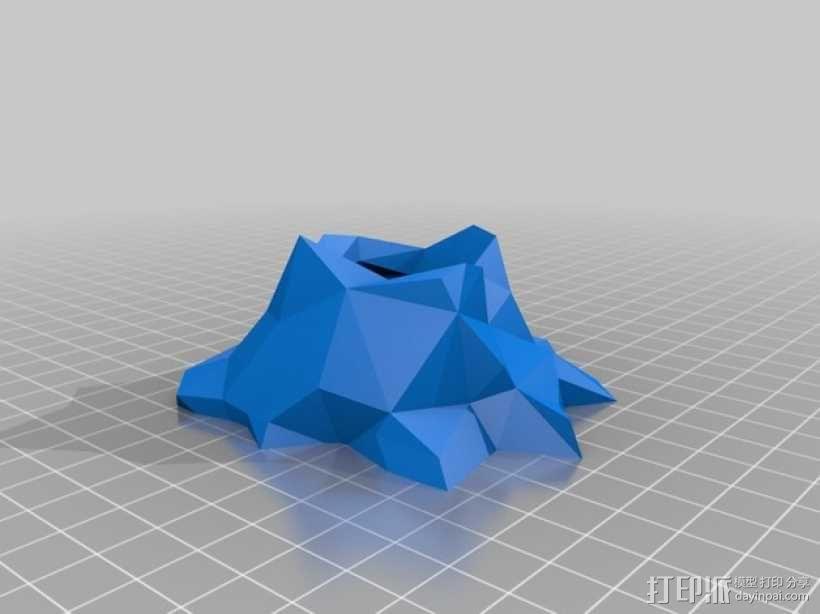 低多边形火山 3D模型  图2