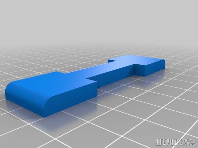 4孔牙刷架 3D模型  图2