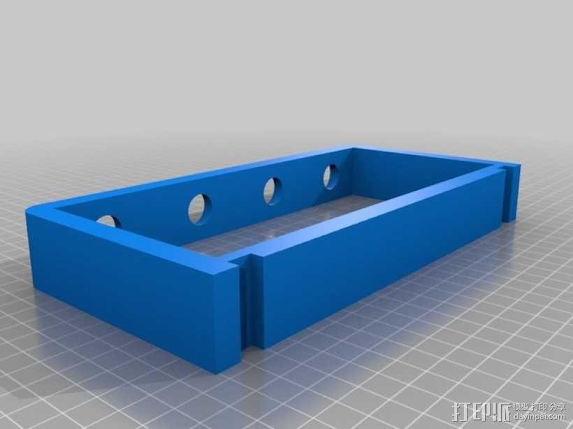 4孔牙刷架 3D模型  图3