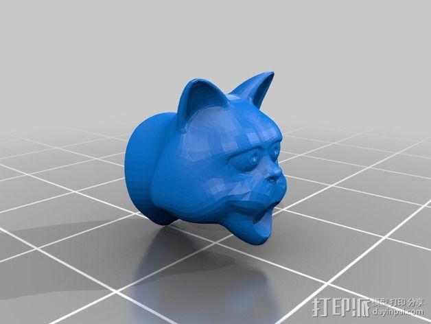 猫形鸟笼 3D模型  图2