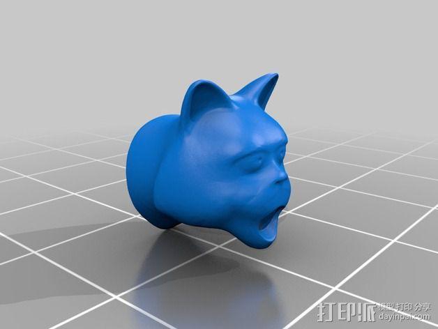 猫形鸟笼 3D模型  图3