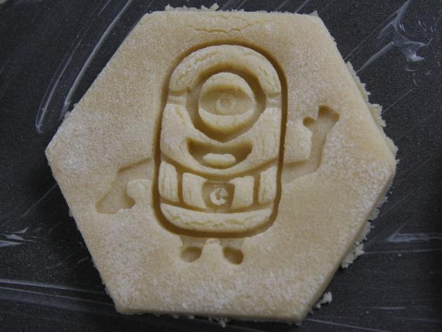 小黄人饼干模具切割刀 3D模型  图1