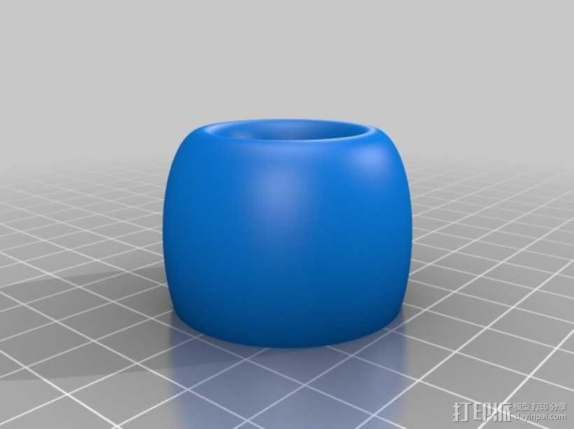 简易卡通牙刷架 3D模型  图3