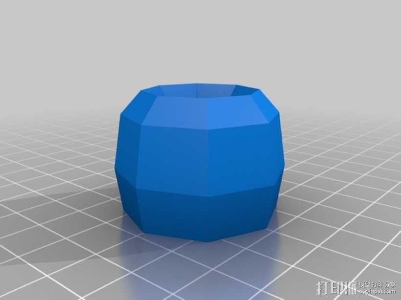 简易卡通牙刷架 3D模型  图2