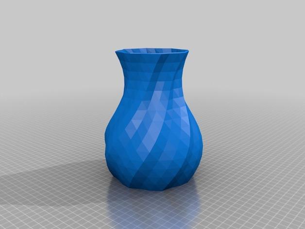 多变圆形花瓶 3D模型  图2