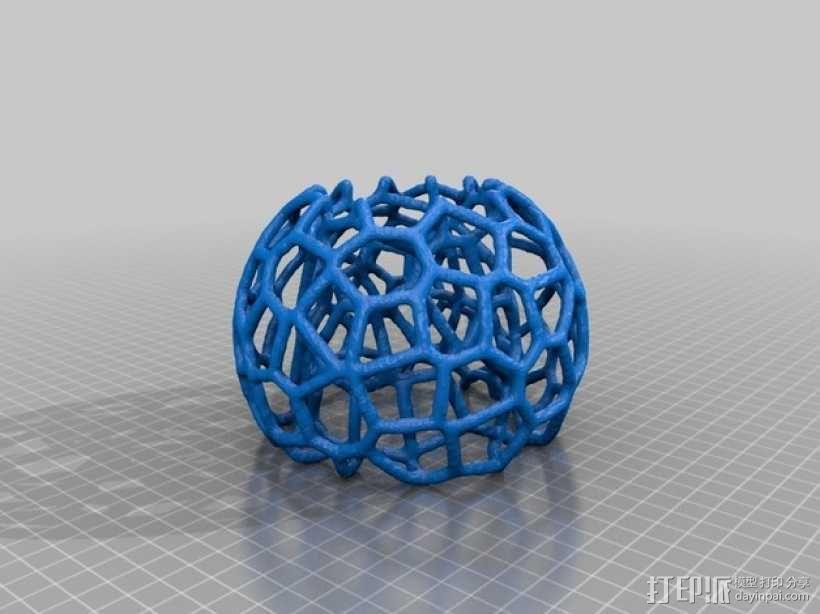 蜂巢形灯罩 3D模型  图2