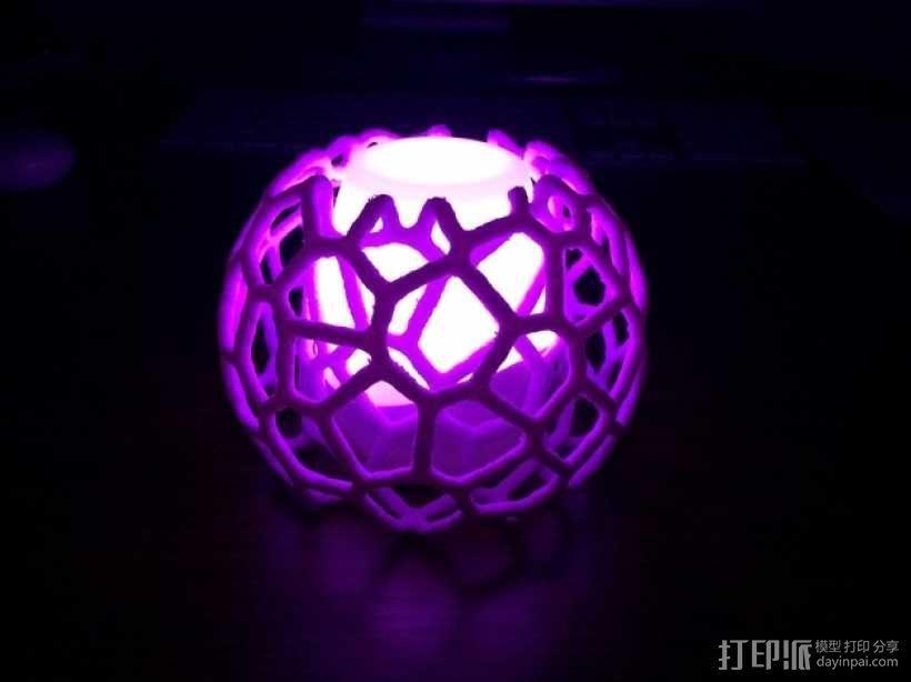 蜂巢形灯罩 3D模型  图1