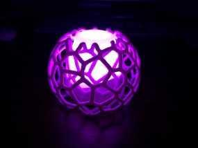 蜂巢形灯罩 3D模型