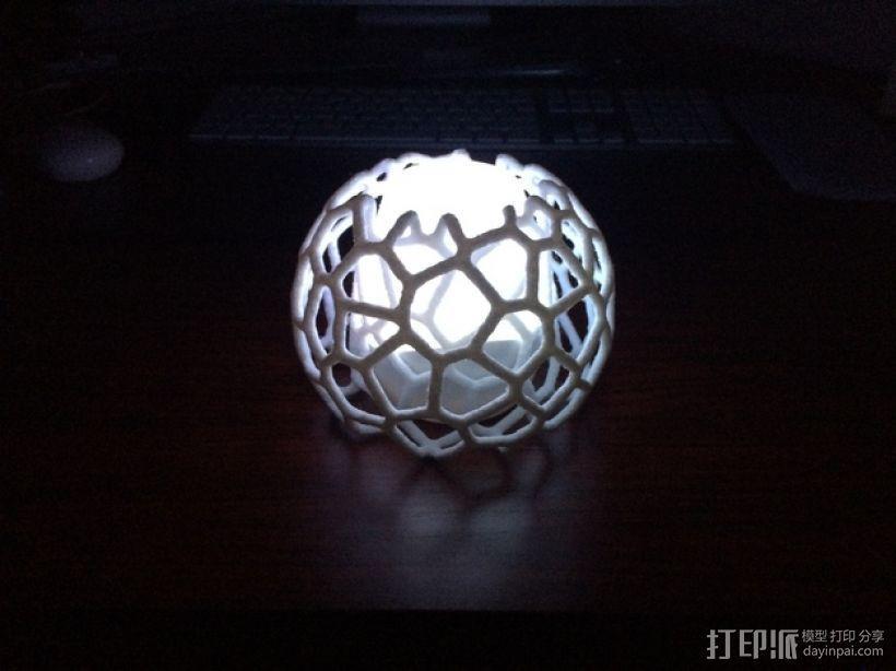 蜂巢形灯罩 3D模型  图5
