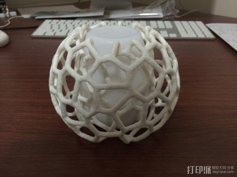 蜂巢形灯罩 3D模型  图6