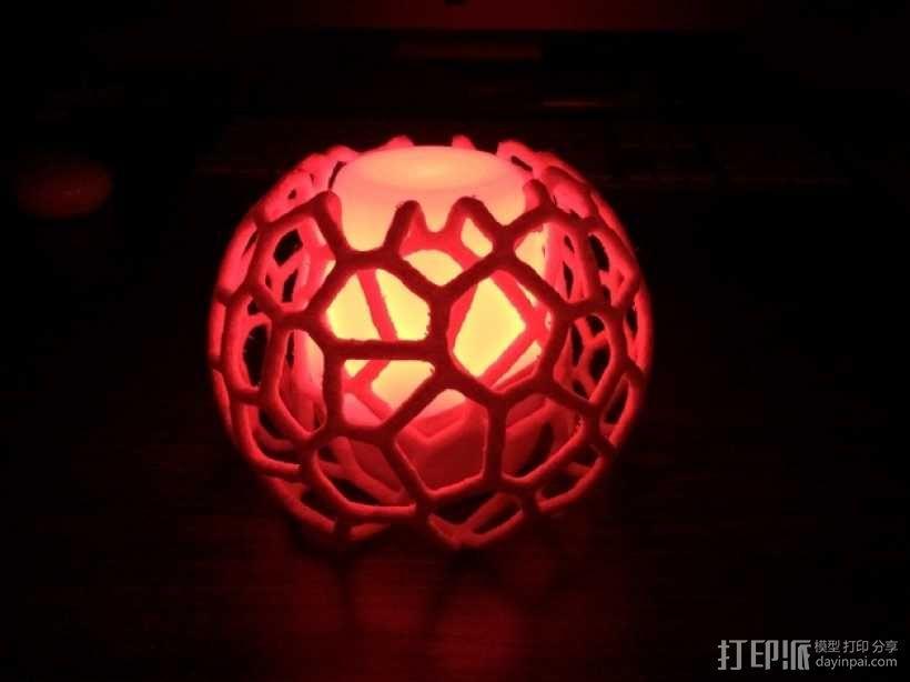 蜂巢形灯罩 3D模型  图3